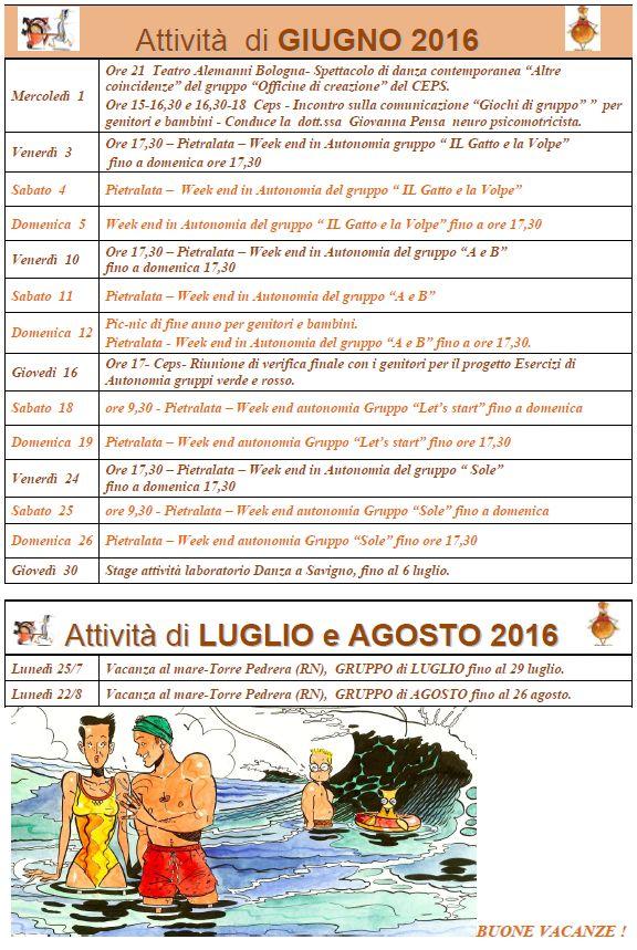 Agenda giugno 2016