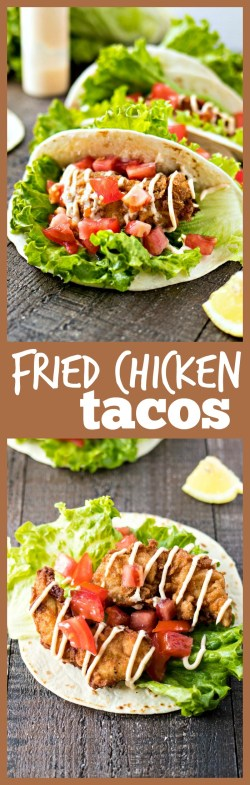 Small Of Fried Chicken Taco