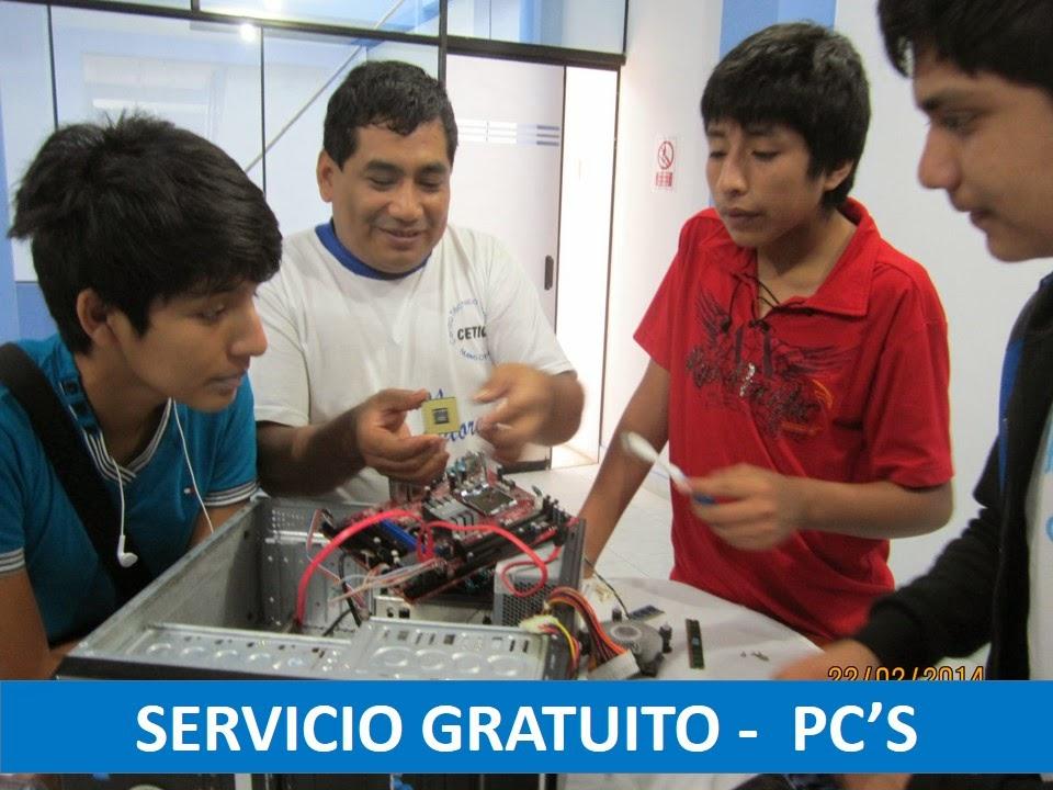 Servicio Gratuito en Mantenimiento de PC's