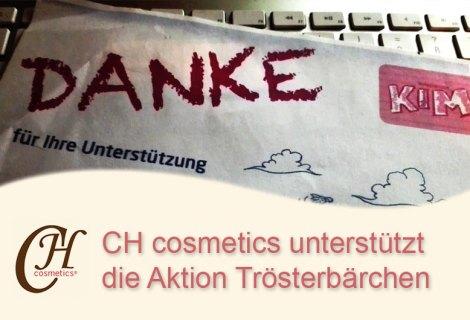 CH cosmetics unterstützt Aktion Trösterbärchen