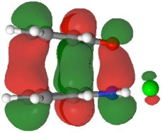 HOMO for 5,5 benzidine rearrangement. Click for 3D.