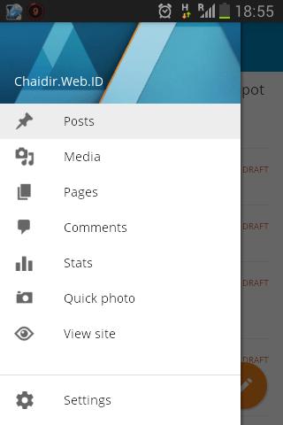 ngeblog dari aplikasi wordpress android