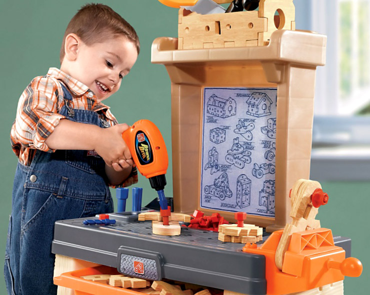 Step Real Projects Workshop Toy Tool Bench Article Feature