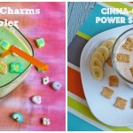 The Lucky Charms Cooler and Cinna-Crunch Power Cereal Smoothies by Ann Dunway Teh of MyMenuPal