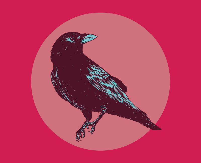 Crow Away Print