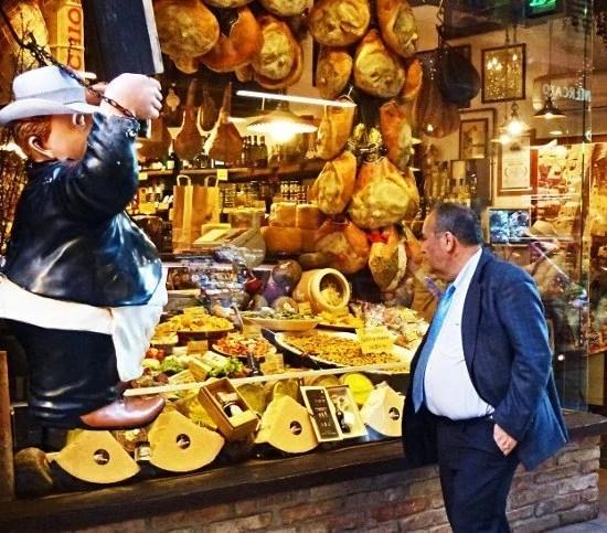 Bologna Italy food market