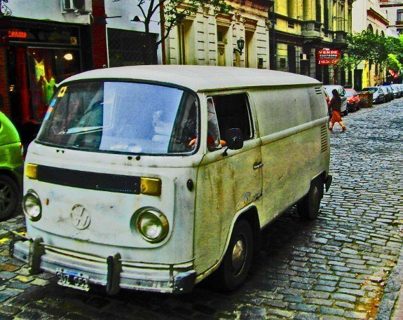 Vintage cars of Buenos Aires VW bus
