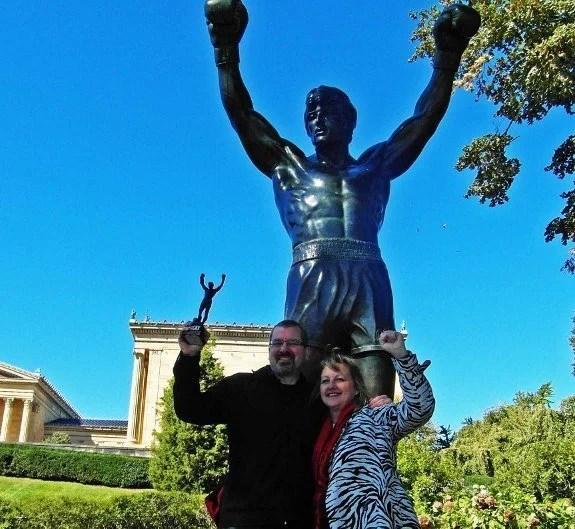 Larissa Michael Rocky statue