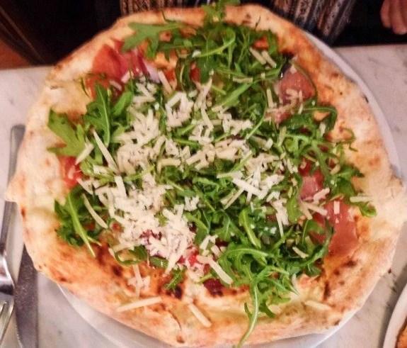 Pizza Naples Italy rocket