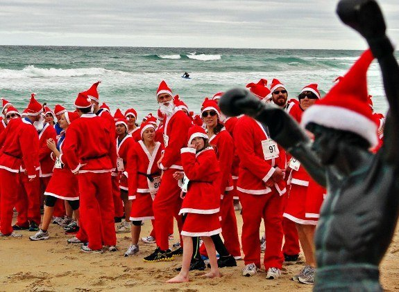 Christmas in New Zealand Santa run for charity