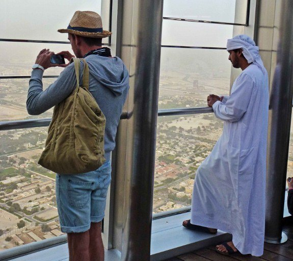 Burj Khalifa Dubai western local tourist
