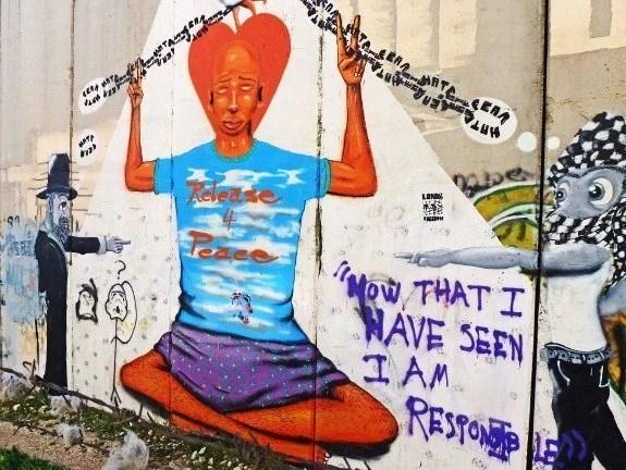 murals security wall in Israel
