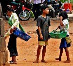 Angkor Wat child vendor