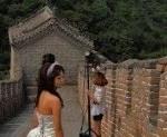 Great Wall of China bride