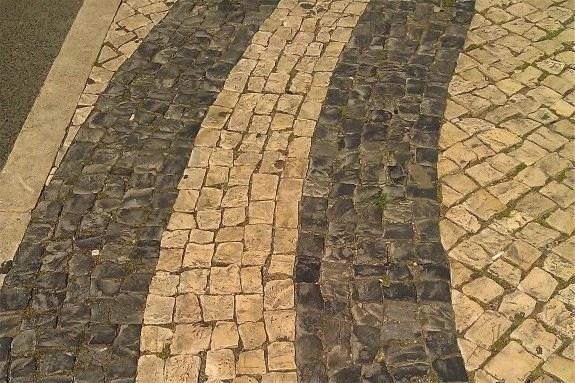 mosaic sidewalks of lisbon