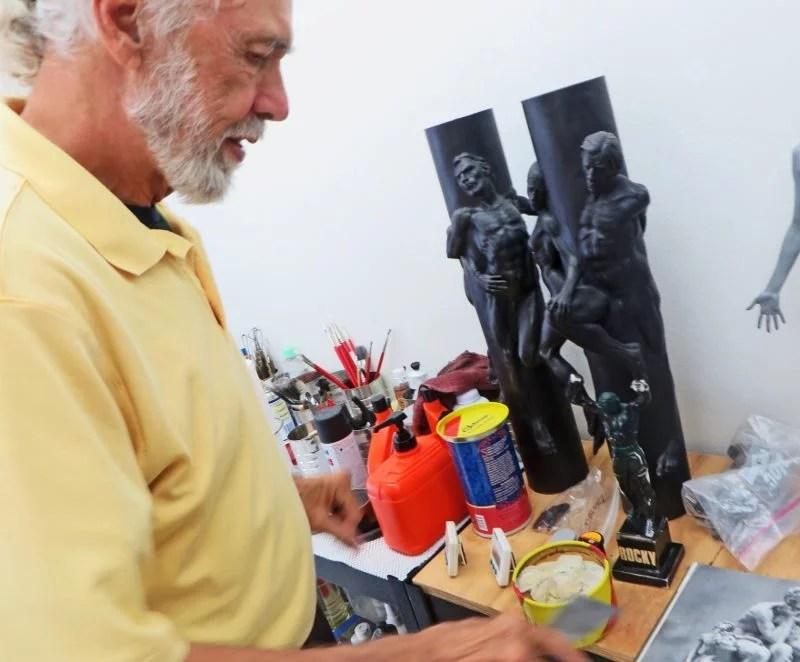 thomas schomberg rocky statue studio