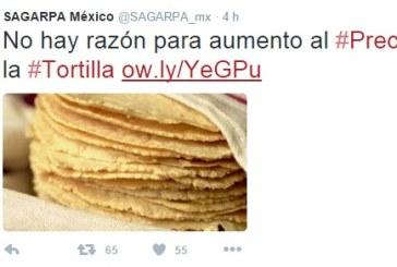 No Hay Razón Para Aumentar El Precio De La Tortilla: SAGARPA