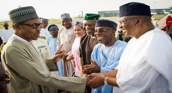 Muhammadu Buhari returns to Nigeria