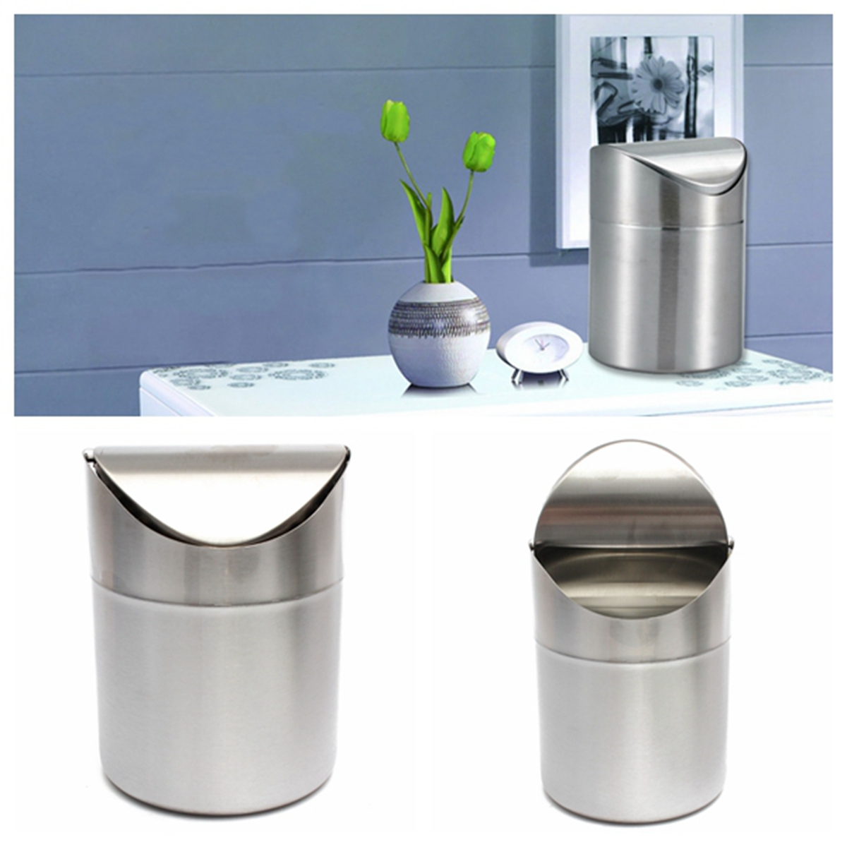 stainless steel kitchen table 1 5L Home Kitchen Table Tidy Stainless Steel