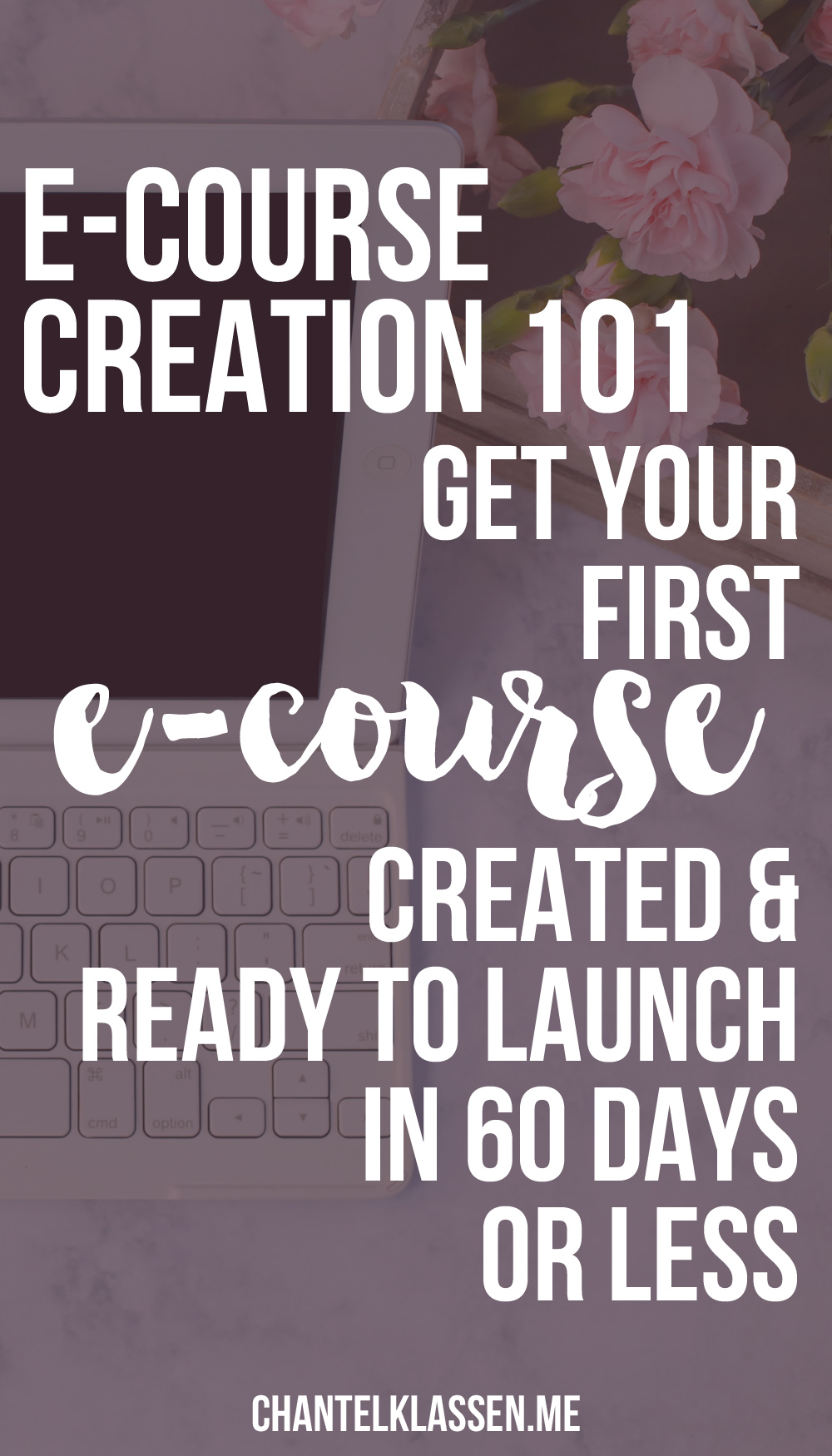 E-Course Creation 101 - how to go from nothing to a launched course in 60 days or less.