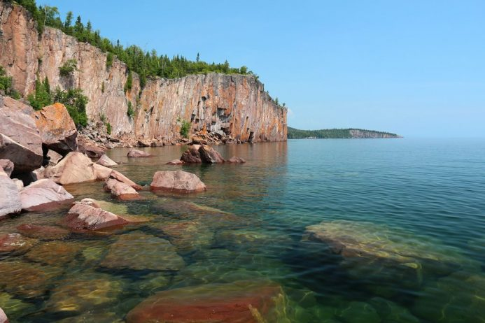 Palisade Head Cliffs On Lake Superior Charismatic Planet