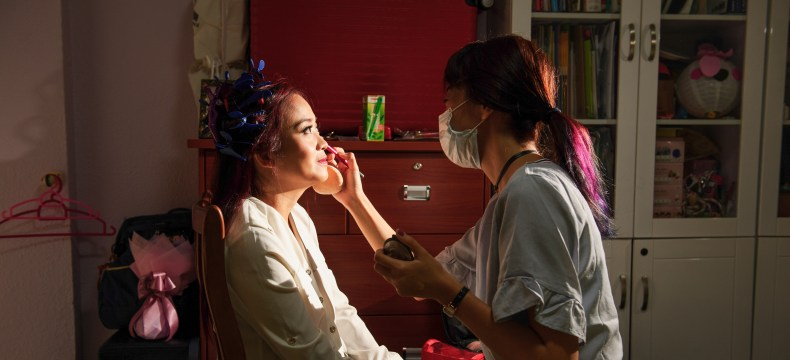 charlane yu make up artist singapore at work