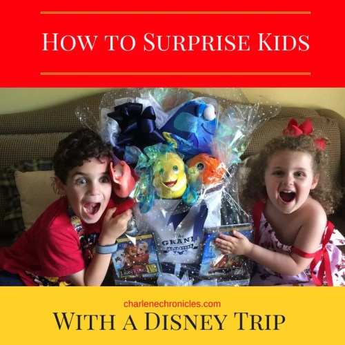 How to Surprise Kids with a disney trip vacation