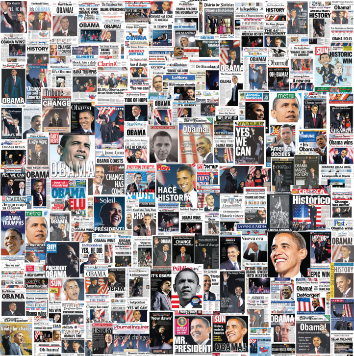 Another President-Elect Obama Newspaper Front-Page Collage