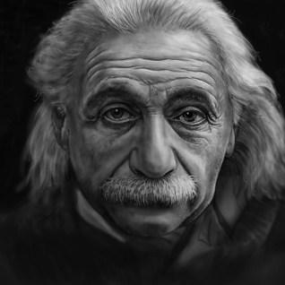 Einstein-computer-drawing
