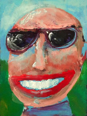 "Self portrait, ""Mr. Cool""."