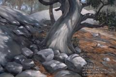 Idyllwild, CA Plein Air painting 1st place