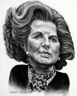 Margaret Thatcher (mylar, ink)