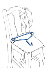 Blue Hanger on Chair
