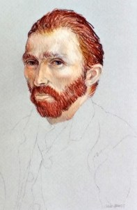 Vincent Van Gogh, colored pencil