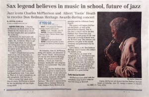 Herald-Mail story about Charles McPherson Redman Award