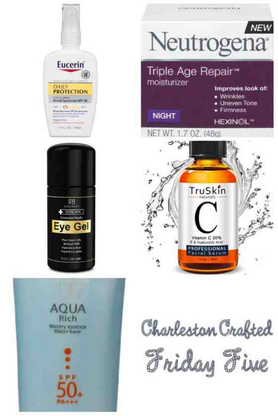 Friday Five - my Amazon $20 skin care routine - Charleston Crafted