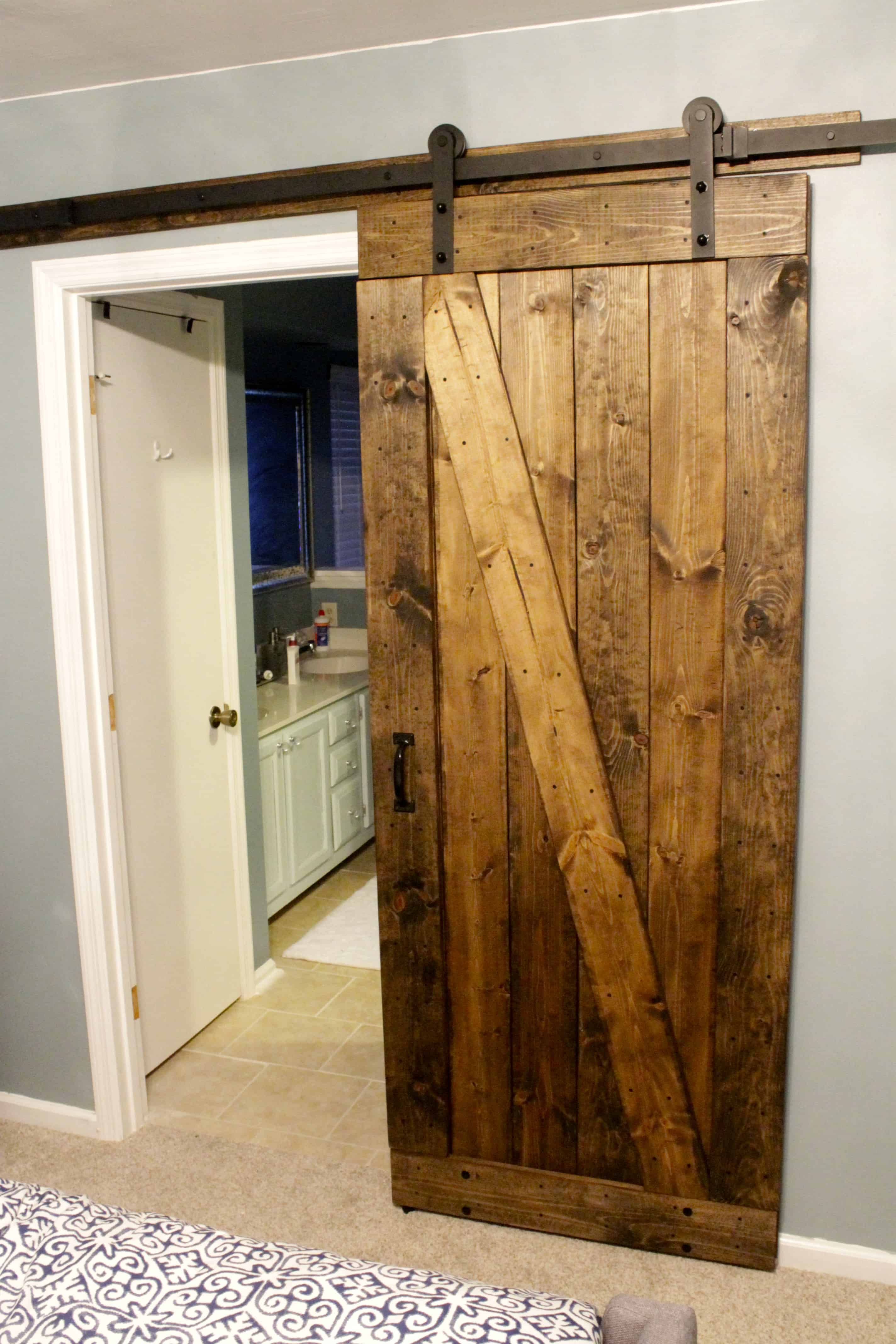 How to mount a barn door using tc bunny hardware from amazon charleston crafted