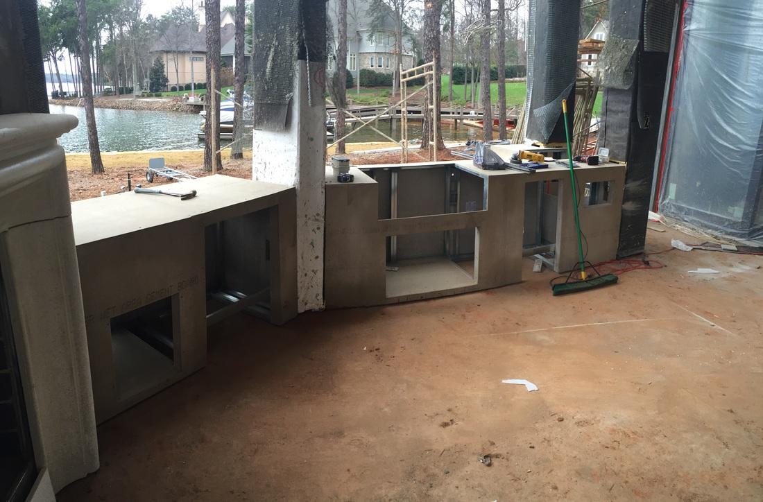 gallery install kitchen island
