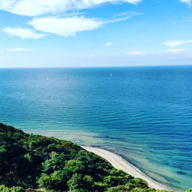 Blick auf die Ostsee von der Steilküste beim Dornbusch