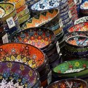 Colourful bowls in different sizes