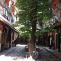 This caravansary courtyard opened up in the bazaar