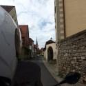 Riding through the narrow alleys in the center