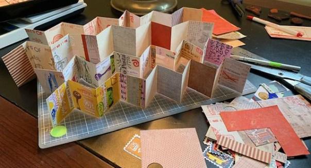 Mini accordion books ready for adding content.