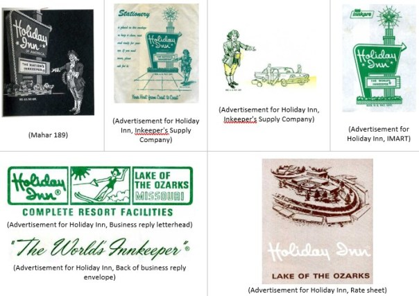 Various Holiday Inn trademarks, mostly from the 1970s.
