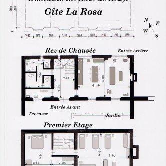 Plan du gîte la Rosa