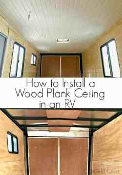 Small Of Wood Plank Ceiling