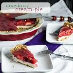 Strawberry Cream Pie with Pretzel Crust