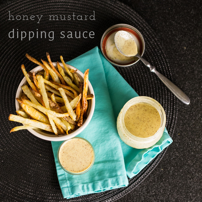 Homemade honey mustard dipping sauce is an incredibly quick and simple ...