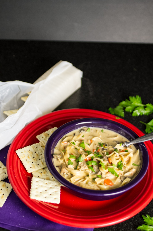 how to make a creamy chicken noodle soup