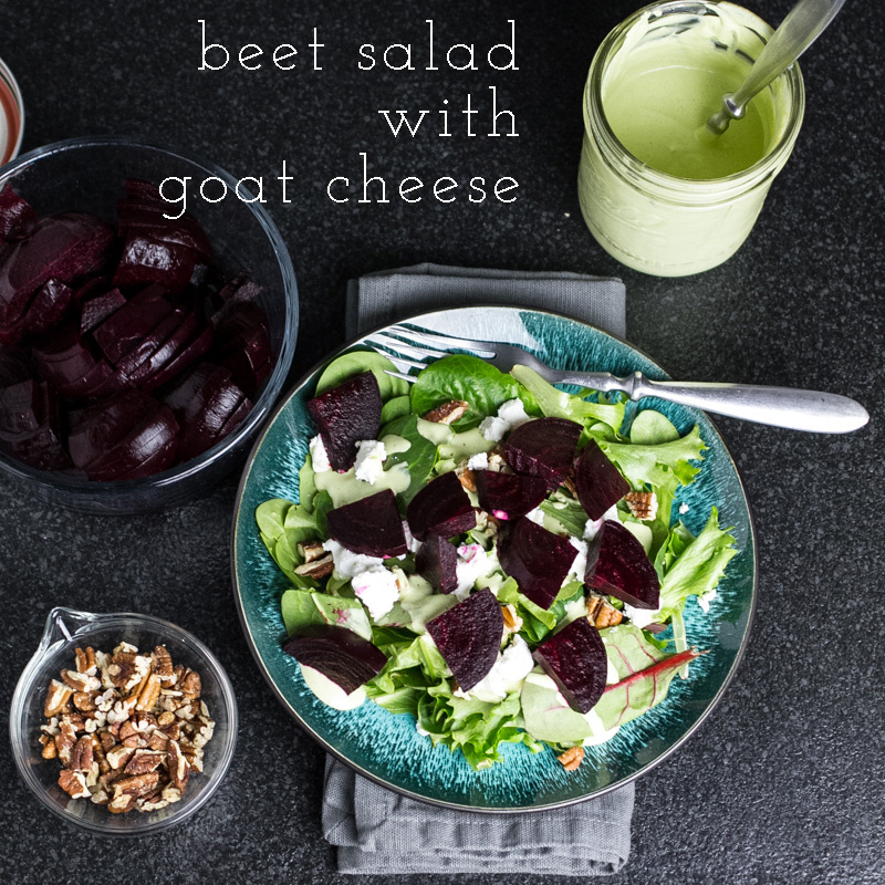 This beet salad with goat cheese is fresh and full of vibrant flavors ...